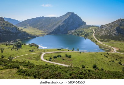 Scenic view in Covadonga, Asturias, northern Spain