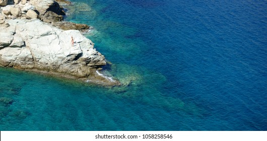 Scenic view of Crete Island with rocky coastline, Heraklion, Greece