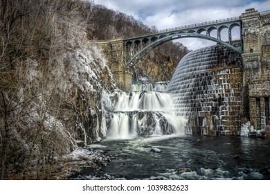 Scenic View of Croton Dam Reservoir Spillway