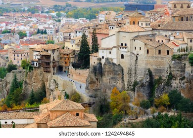 Scenic view of Cuenca Old town in Spain