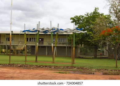 Scenic view of Derby District High School is located in Derby  situated at the southern end of King Sound in the Kimberley region of  North Western Australian .