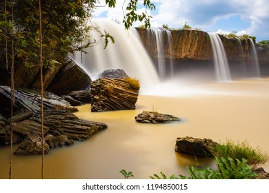 Scenic view of the Dray Nur waterfalls located in Dak Lak Province, Vietnam