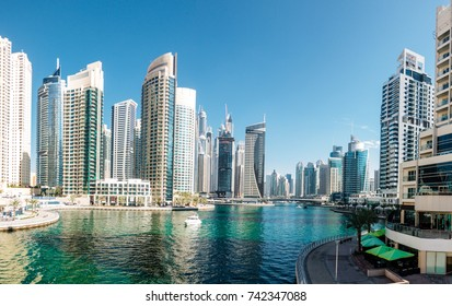 Scenic view of Dubai Marina in UAE
