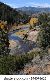 Scenic view of  East Fork Carson River in northern California