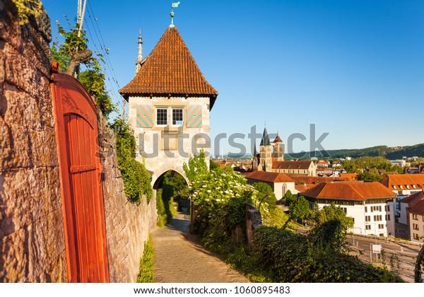 Scenic view of Esslingen medieval buildings
