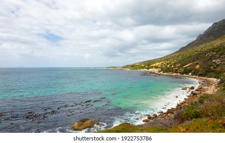 Scenic view of False Bay coastline in Cape Town South Africa