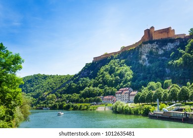 Scenic view of famous citadel in Besancon, France
