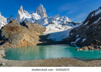 Scenic view at the Fitz Roy mountain in Argentine