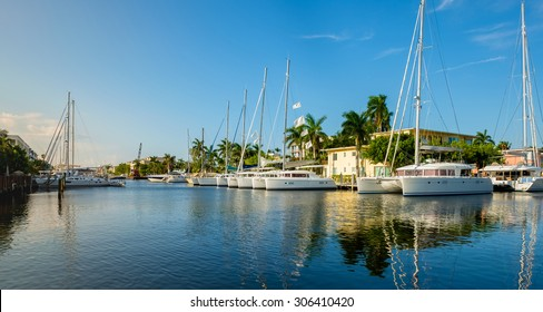 Scenic view of the Fort Lauderdale Intracoastal Waterway along Las Olas Boulevard.