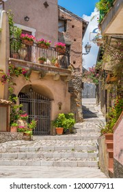 Scenic view in Forza d'Agrò, picturesque town in the Province of Messina, Sicily, southern Italy.