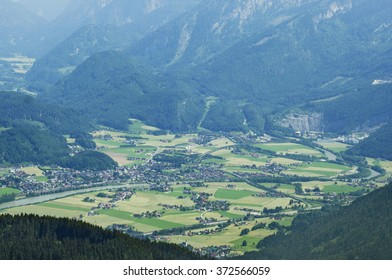 A scenic view of fresh green leaves in a mountain region for a great travel along the countryside