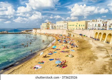Scenic view of Gallipoli waterfront, Salento, Apulia, Italy