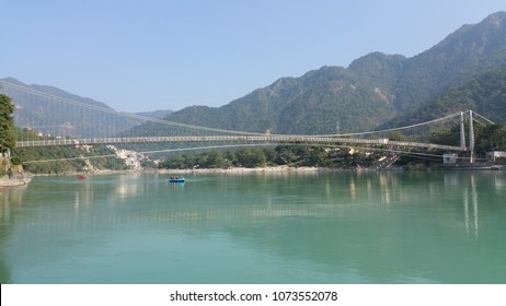 scenic view of Ganga river in India.