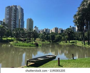 Scenic view of Goiania Zoo on a sunny day. Goiania, Goias, Brazil
