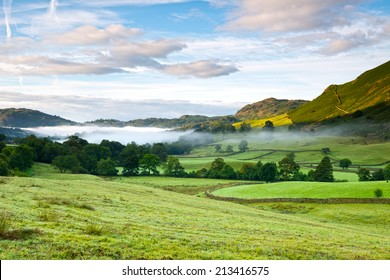 Scenic view of Grasmere, Lake District National Park, Cumbria, England.