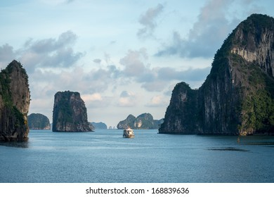 Scenic view of Halong Bay, Vietnam
