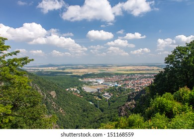 "Scenic view from ""Hexentanzplatz"", Thale, Harz, Germany"