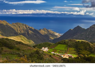 Scenic view of hilly country of Tenerife, Canary Islands