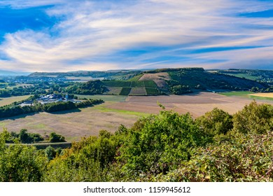 scenic view from Hindenburg point to the Nahe valley in Oberhausen