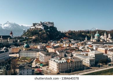 Scenic view of the Hohensalzburg fortress, Salzburg, Austria