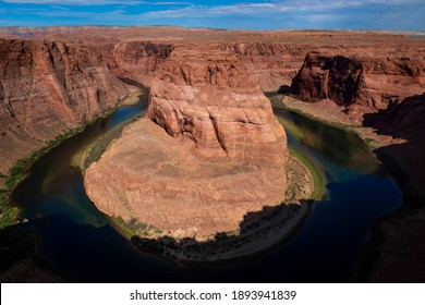 Scenic view of the Horseshoe Bend and the Colorado River, in the State of Arizona, USA