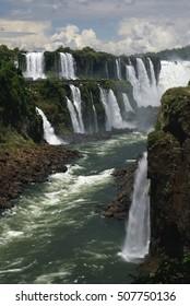 Scenic view of Iguazu waterfalls in Argentina