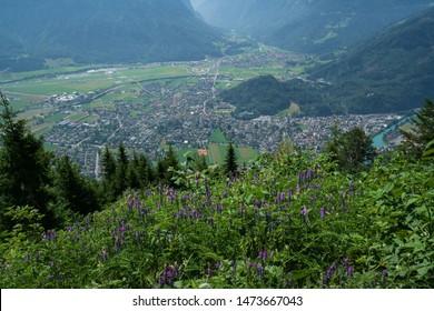 Scenic view of Interlaken from Harder Kulm