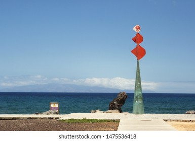 Scenic view of a iron colorful sculpture June 7, 2019  in Adeje, Tenerife, Spain
