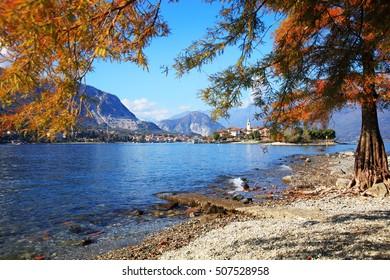 Scenic view of Isola Bella on Lake Maggiore, Italy, Europe