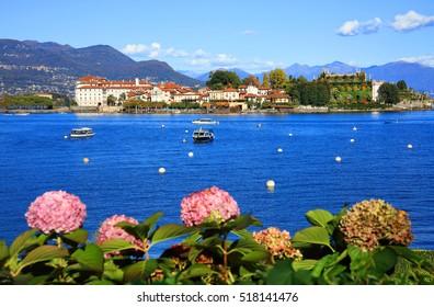 Scenic view of the Isola dei Pescatori, Lago Maggiore, Italy, Europe