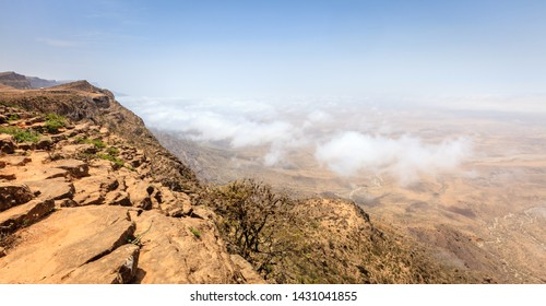 Scenic view from Jebel Samhan - an elevated plateau near Salalah, Oman