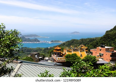 Scenic View from Jiufen (Chinese Translation: Jiufen Dai Tian Temple)