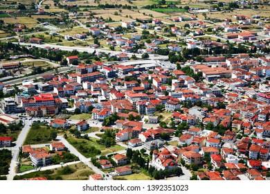 Scenic view of Kalambaka village in Greece near Meteora