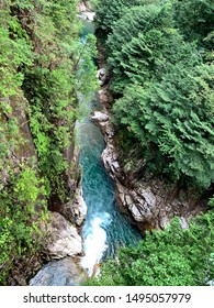 The scenic view of Kaore ravine in Itadori Seki Japan