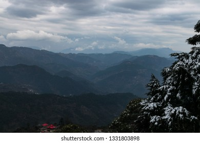 Scenic view from kasauli.