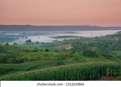Scenic View of Khao Phaengma in Wang Nam Khiao District southern of Nakhon Ratchasiam and Khao Yai National Park.