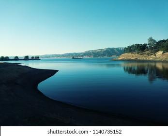 scenic view at Lake Berryessa in Napa California.