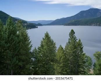 Scenic view of lake, Cranbrook, British Columbia, Canada - Shutterstock ID 2015675471