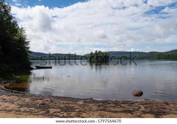 scenic-view-lake-seen-beach-600w-1797564