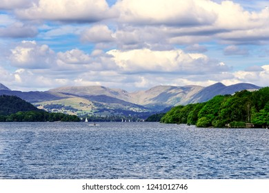 Scenic View of Lake Windermere in the Lake District, England