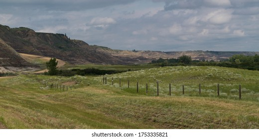 Scenic view of a landscape, Drumheller, Red Deer River, Alberta, Canada