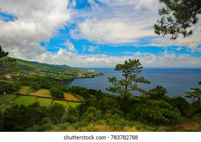 scenic view of a landscape on the island of Pico in the Azores