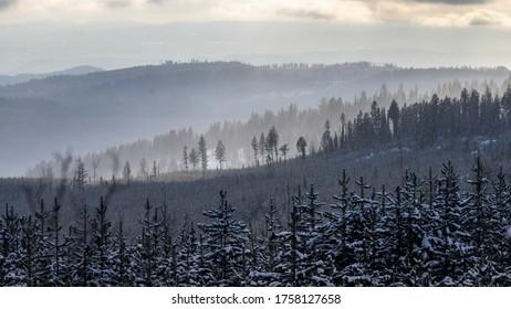 Scenic view of landscape, Sun Peaks Resort, Sun Peaks, British Columbia, Canada
