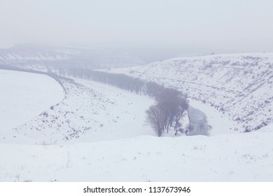 Scenic view of landscape in the winter