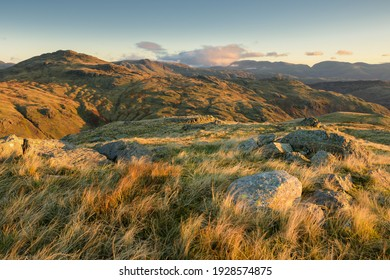 Scenic view from Little Carrs over looking Lake district fells