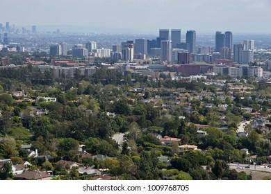 Scenic view of Los Angeles skyscrapers,California,usa