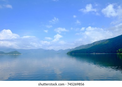 Scenic view of Mae Ping lake Bhumibol dam Tak ,Thailand