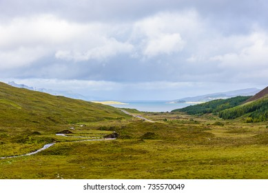 Scenic view of the majesctic nature of the Isle of Skye in Scotland, UK.