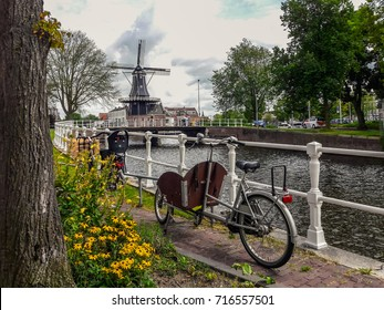 Scenic view of Molen de Adriaan in Haarlem (Netherlands)