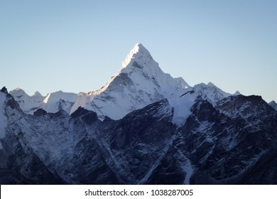 Scenic view of Mount Ama Dablam at dawn from Kala Patthar, Gorak Shep, Everest Base Camp trek, Nepal